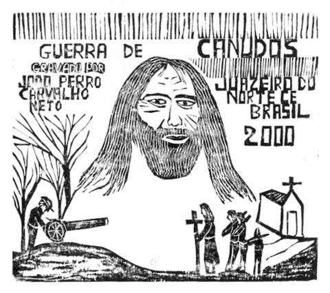 João Pedro do Juazeiro expõe xilos que fazem alusão ao nascimento de Conselheiro em Quixeramobim