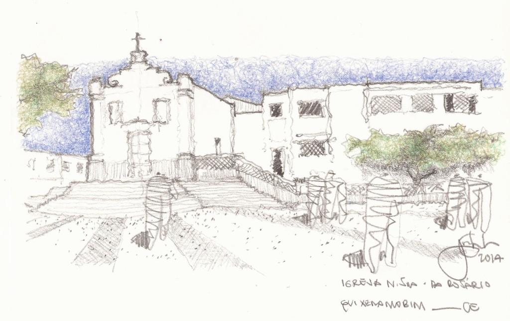 A Exposição individual do arquiteto Clewton Nascimento reúne 10 desenhos que registram bens culturais do município de Quixeramobim.